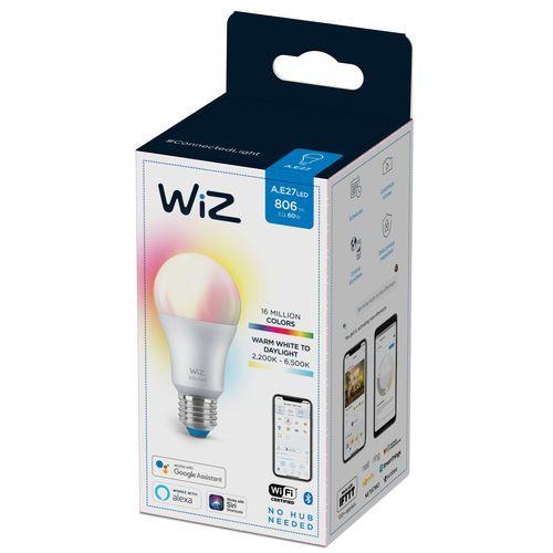 WiZ LED lamp gekleurd en wit 60W E27
