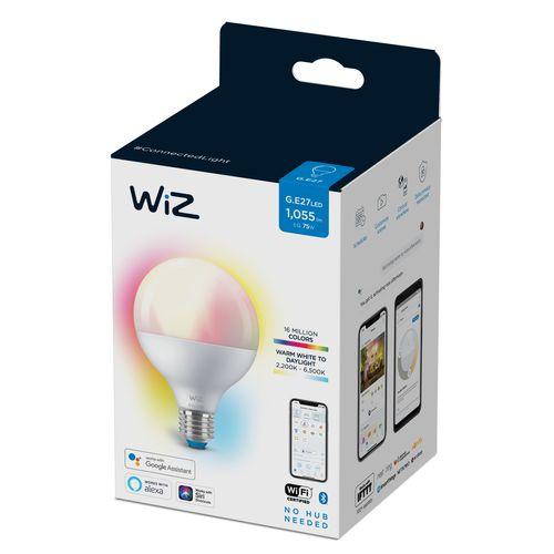 WiZ LED lampe globe couleur et lumière blanche 75W E27