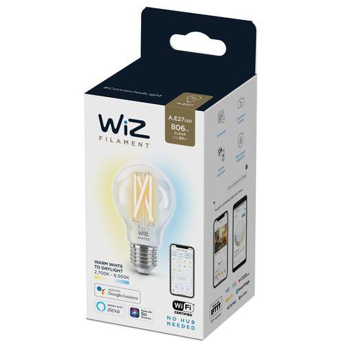 WiZ LED lampe à filament lumière blanche chaude ou froide 60W E27