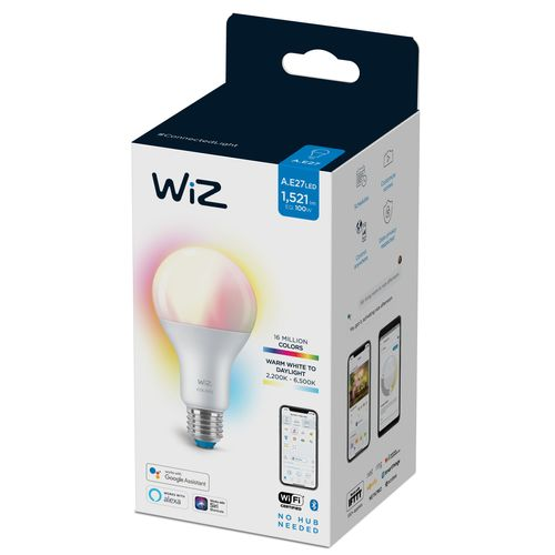 WiZ LED lamp gekleurd en wit 100W E27