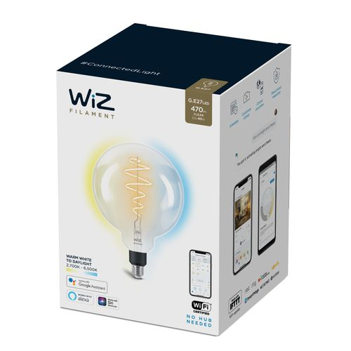 WiZ LED filament à géant lumière blanche chaude ou froide 40W E27