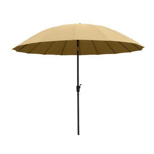 Central Park parasol Shanghai staal zandkleurig ø270cm