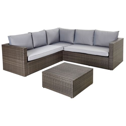 Central Park loungeset Alea 3-delig staal wicker