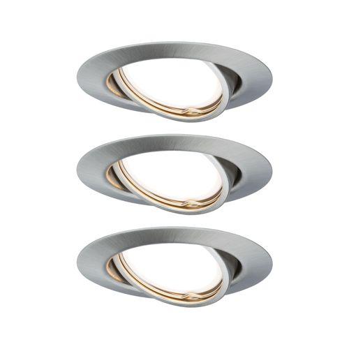 Spot encastrables Paulmann LED Base 3-stepdim orientable fer 3x5W