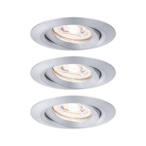 Paulmann inbouwspot LED Nova Mini kantelbaar aluminium 3x4W