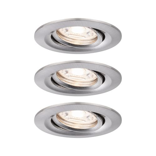 Paulmann inbouwspot LED Nova Mini kantelbaar ijzer 3x4W