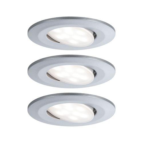 Spot encastrables Paulmann LED Calla orientable chrome 3x6W