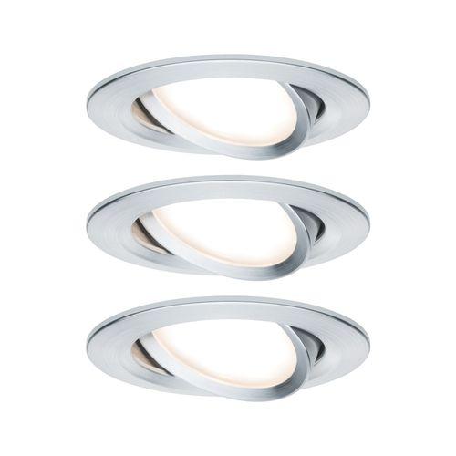 Paulmann inbouwspot LED Nova kantelbaar aluminium 3x6,5W
