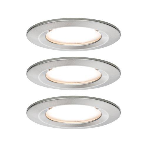 Spot encastrables Paulmann LED Nova 3-stepdim fer 3x6,5W