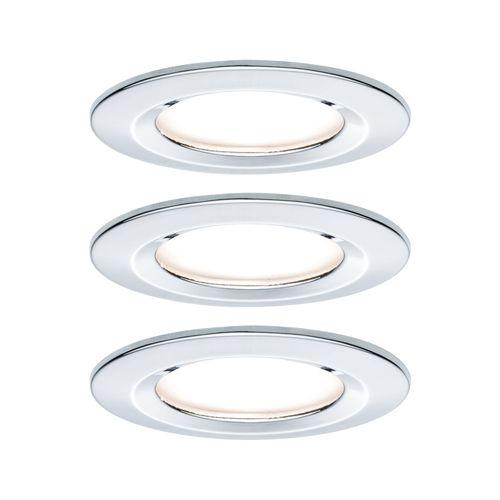 Spot encastrables Paulmann LED Nova 3-stepdim chrome 3x6,5W