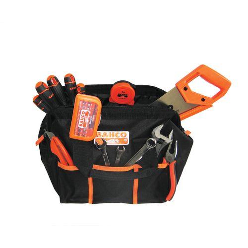 Bahco sac à outils en tissu, rempli 13 pièces