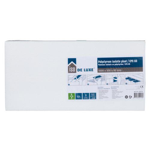 Iso De Luxe Polystyreen plaat EPS60 3 stuks 100x50x8cm