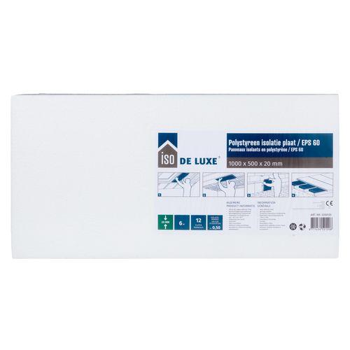 Iso De Luxe Polystyreen plaat EPS60 12 stuks 100x50x2cm