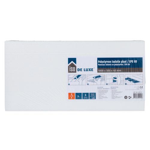 Iso De Luxe Isolatiepaneel polystyreen (EPS60) 100x50x4cm (6 platen)