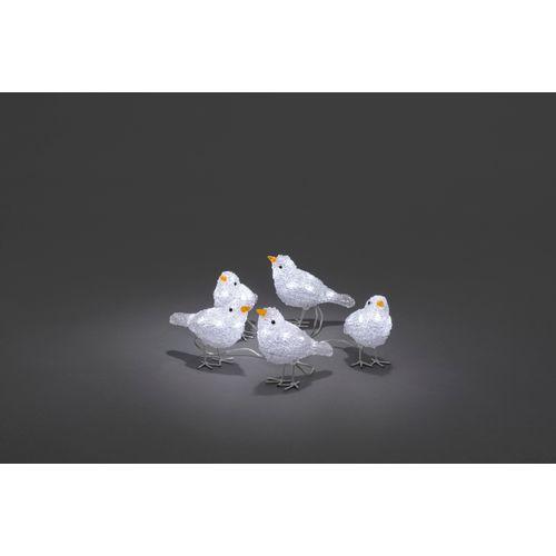 Décoration oiseaux 40 LED blanc froid 5pcs 10x6x16cm