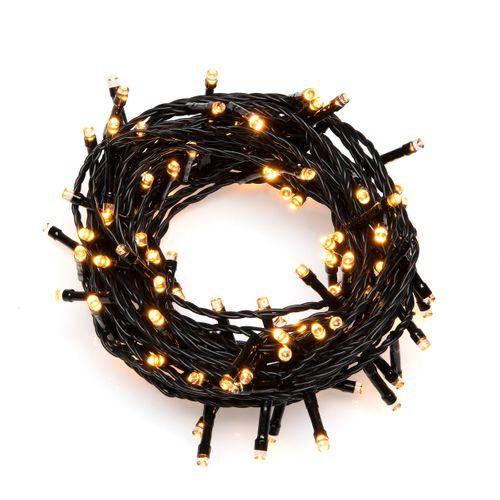 Konstsmide lichtsnoer LED 120 amberkleurig 12,4m