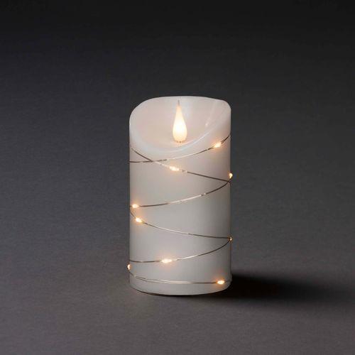 Konstsmide kaars LED warm wit 13,5x7,5cm