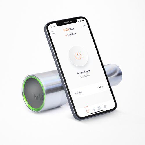 Slim deurslot bedienbaar via smartphone