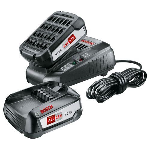 Bosch batterij + lader 18V 2,5Ah