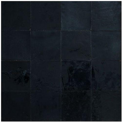 Zellige muurtegel zwart 10x10cm 1m²