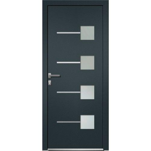 Porte d'entrée Elsealu Soria gris anthracite 218x96cm