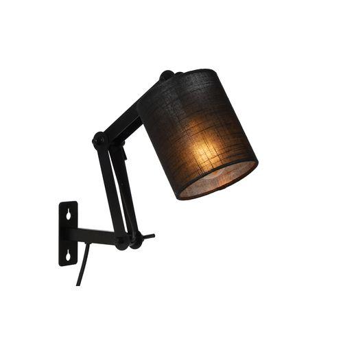 Lucide wandlamp Tampa zwart E27