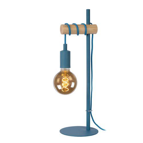 Lucide tafellamp Paulien blauw E27
