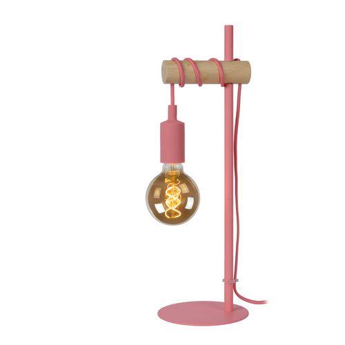 Lucide tafellamp Paulien roze E27