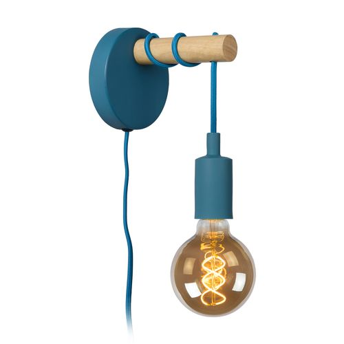 Lucide wandlamp Paulien blauw E27