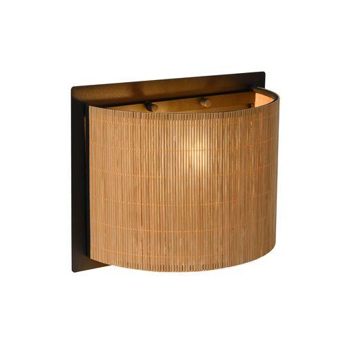 Lucide wandlamp Magius hout E27