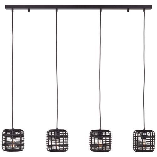 Brilliant hanglamp Crosstown zwart 4xE27