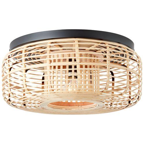 Brilliant plafondlamp Crosstown bamboe E27