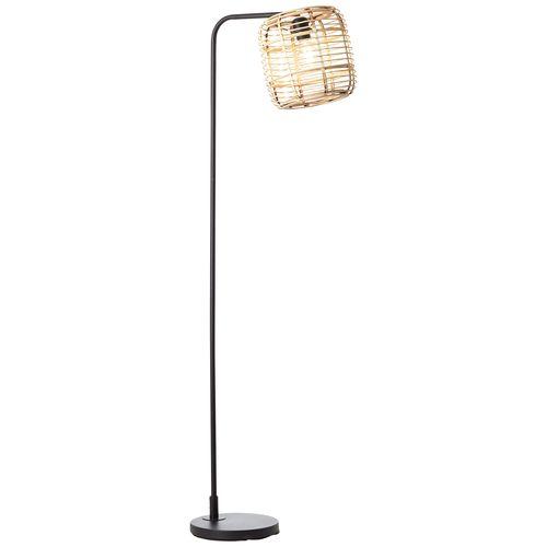 Brilliant vloerlamp Crosstown zwart E27