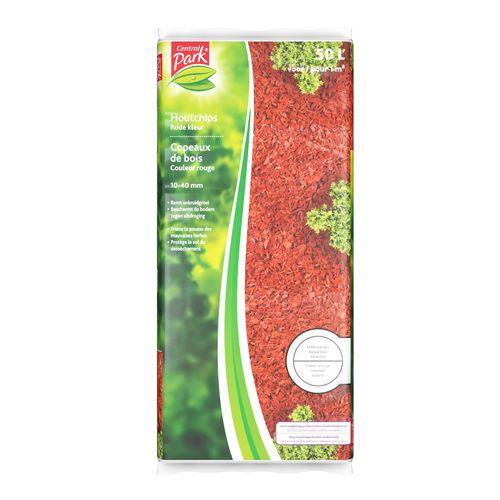 Copeaux de bois rouge Central Park 10-40 mm 50L