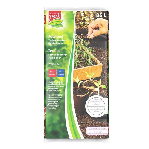 Central Parc potgrond groenten, bloemen, kruiden, stekplanten 35L