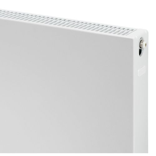 Plieger Compact flat paneelradiator compact vlakke plaat type 22 900x600mm 1266W mat zwart 7250531
