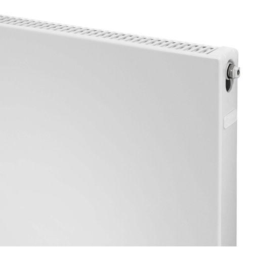 Plieger Compact flat paneelradiator compact vlakke plaat type 11 400x400mm 233W mat zwart 7250519