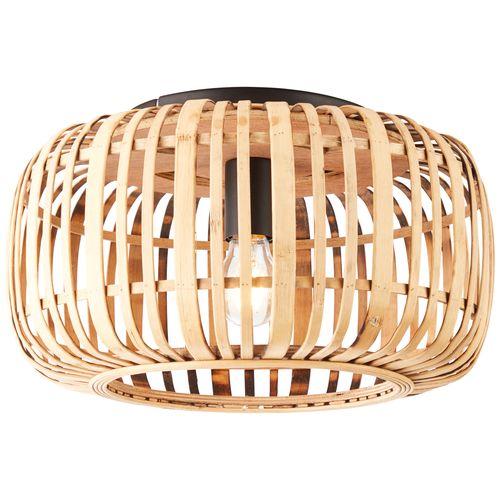 Brilliant plafondlamp Woodrow naturel E27