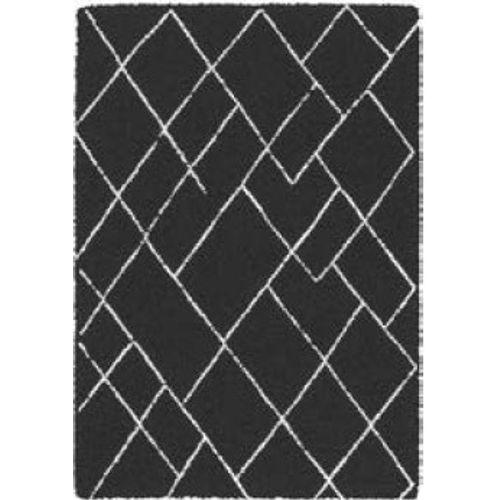 Vloerkleed Gitte zwarte ruit 160 x230cm