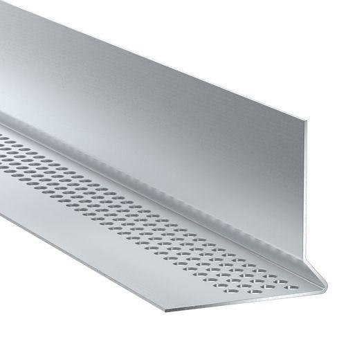 Profil de départ James Hardie aluminium clair 300x2,5x3,8cm