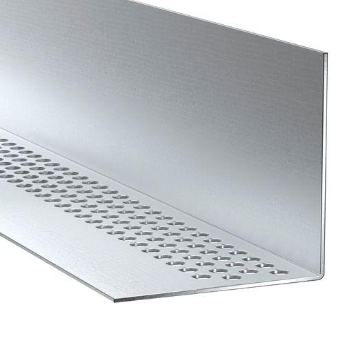 Profil de ventilation James Hardie aluminium clair 300x2,5x3,8cm