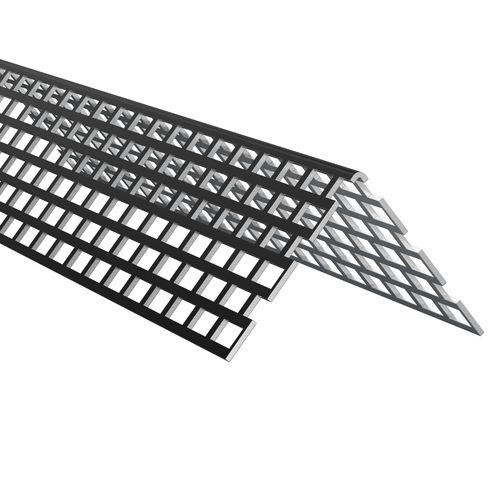 James Hardie ventilatieprofiel zwart PVC 250x3x5cm