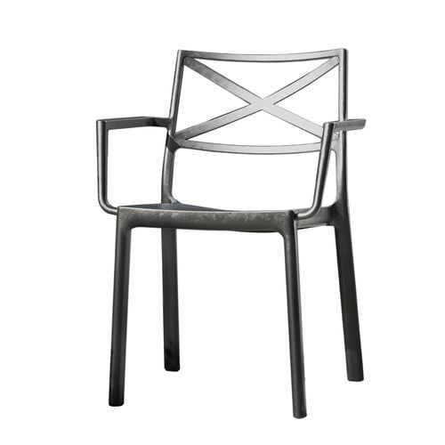 Chaise Keter Metalix avec accoudoirs graphite