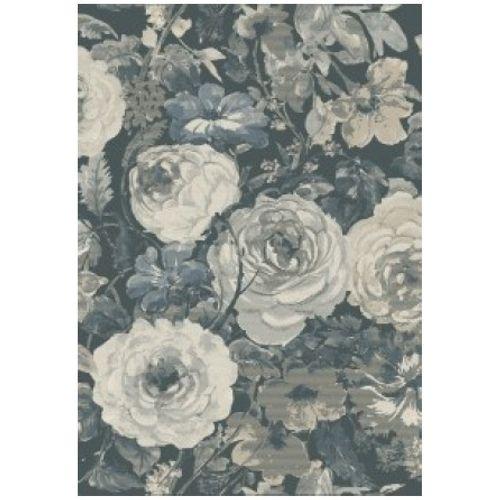 Vloerkleed Blossom bloem blauw 160x230cm