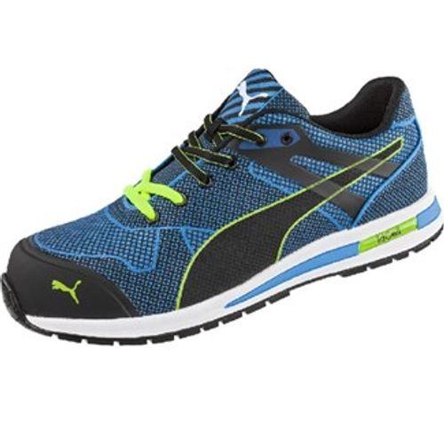 Puma werkschoenen Blaze Knit S1P laag blauw maat 45