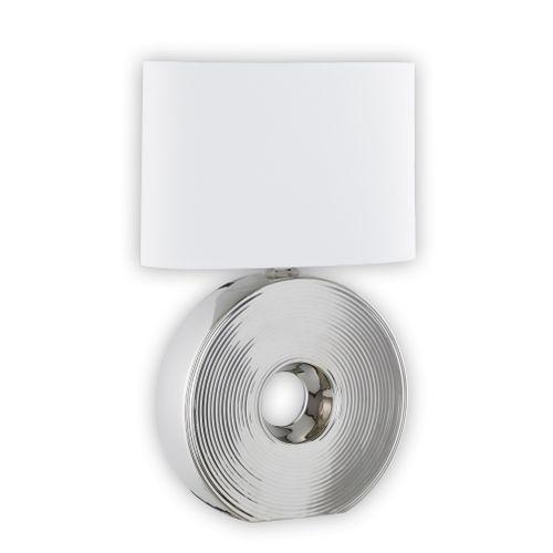 Fischer & Honsel tafellamp Eye E27 zilverkleurig