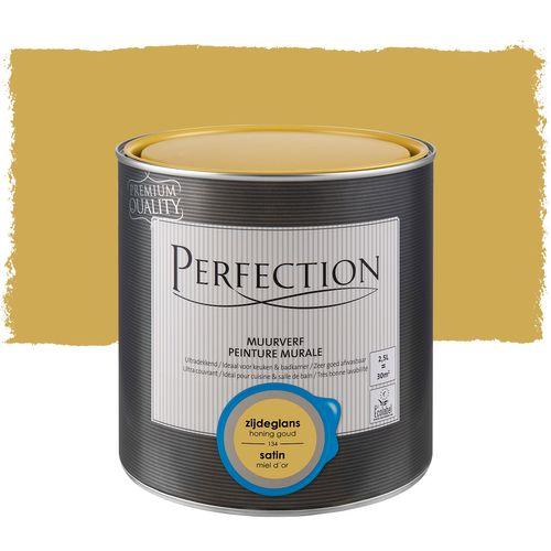 Peinture murale Perfection ultra couvrante miel d´or satin 2,5L