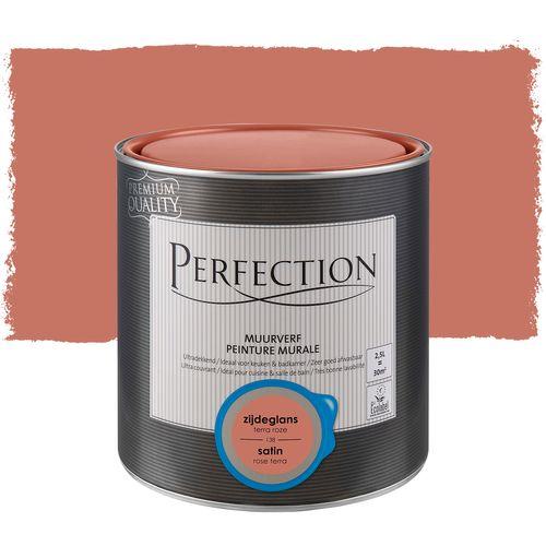 Perfection muurverf ultradekkend zijdeglans terra roze 2,5L