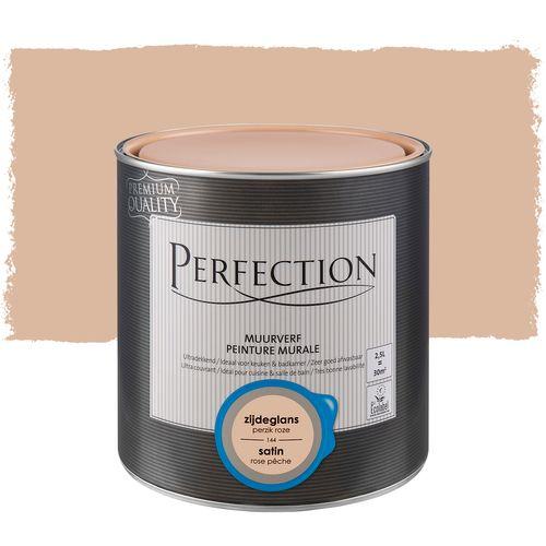 Perfection muurverf ultradekkend zijdeglans perzik roze 2,5L