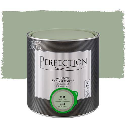 Perfection ultradekkende muurverf Aloe Vera mat 2,5L